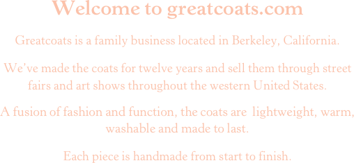 Welcome to greatcoats.com